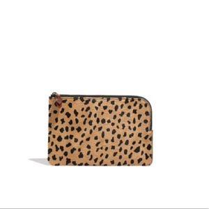 Madewell Leopard Genuine Calf Clutch